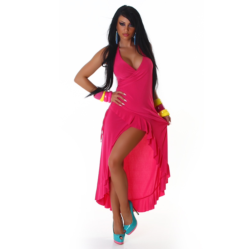 Fuchsia Carmen Summer Dress
