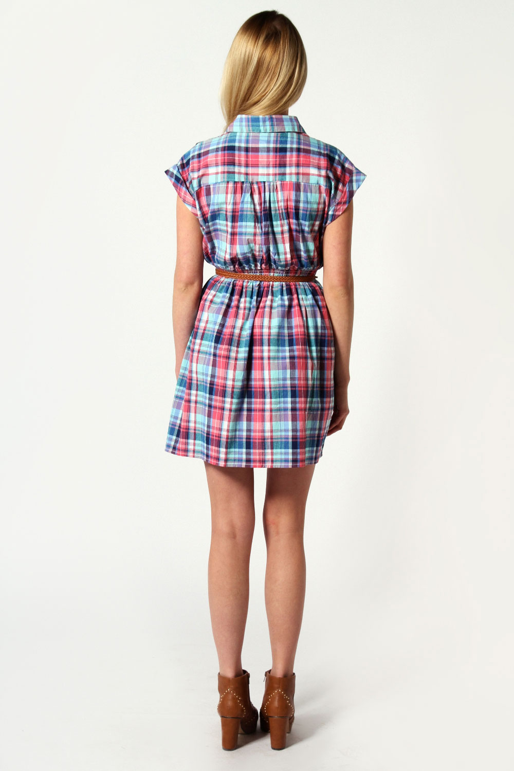 Tara Check Shirt Dress