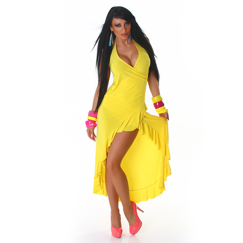 Yellow Carmen Summer Dress