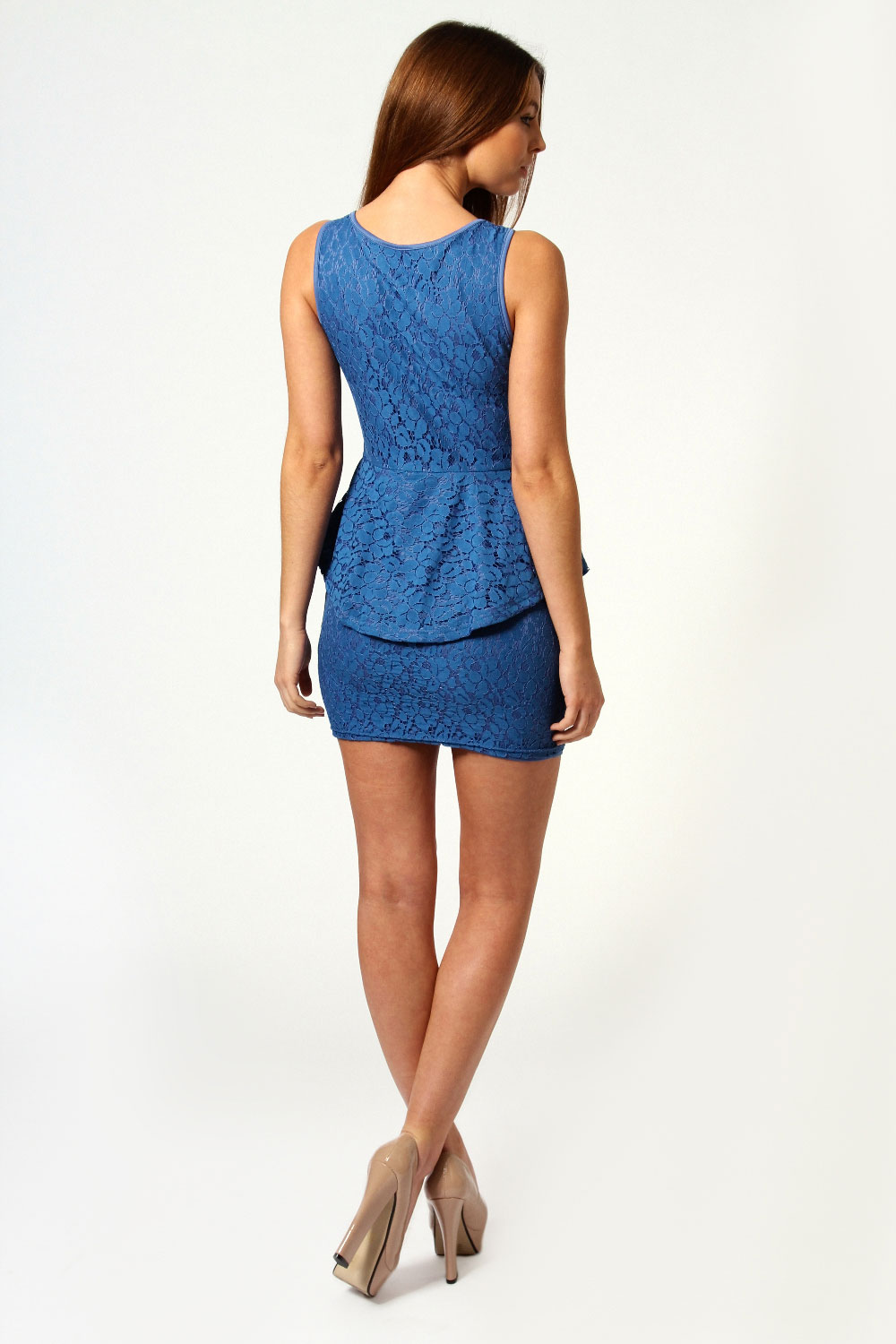 Chloe Crochet Lace Peplum Dress