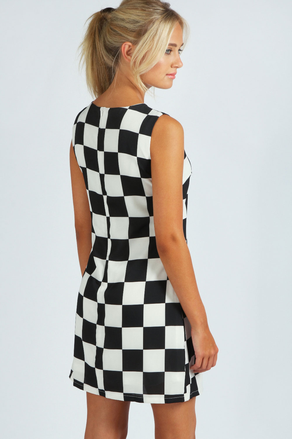 Christine Checkered Fit And Flare Dress