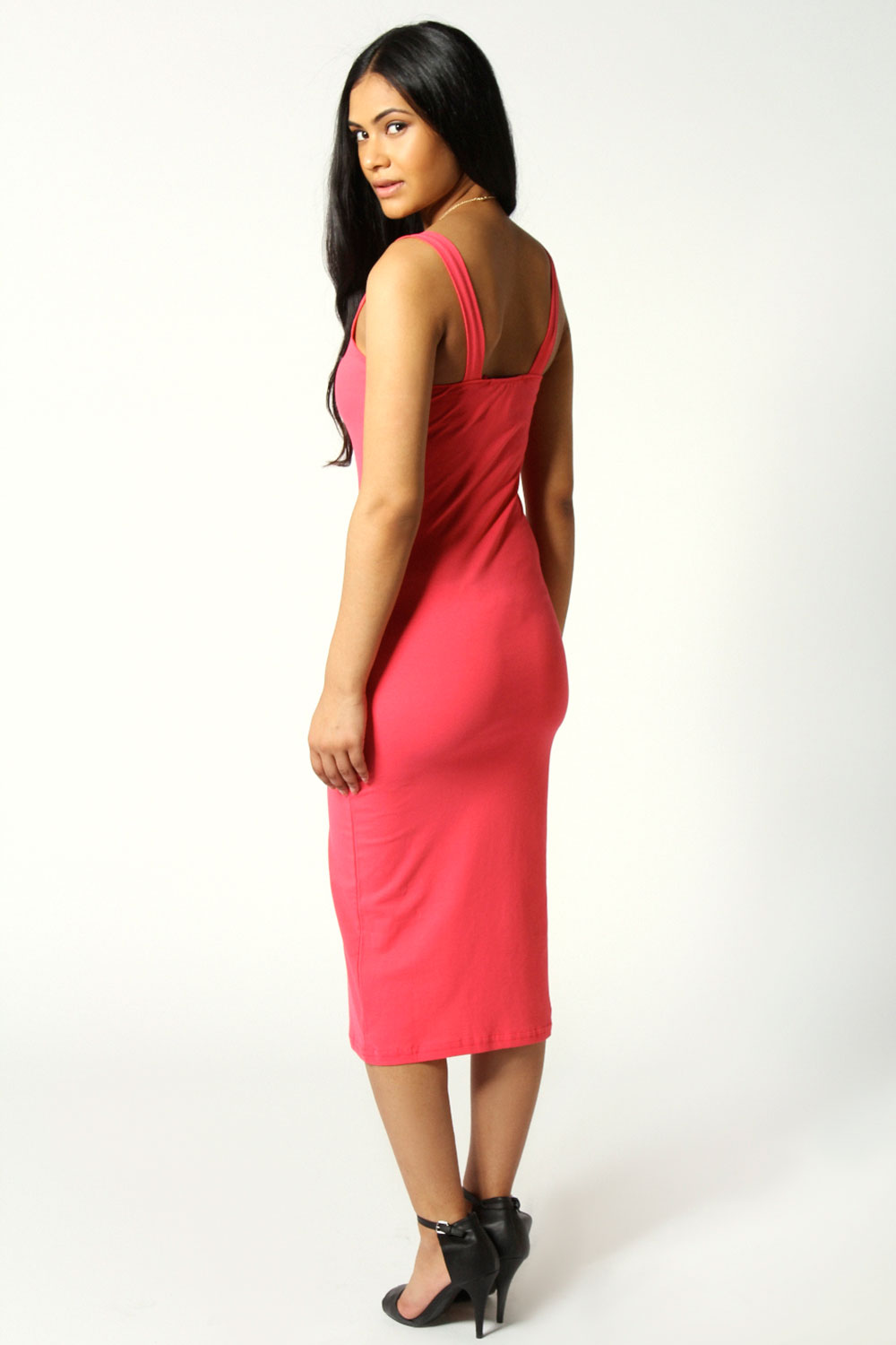 Coral Jen Scoop Neck Jersey Bodycon Vest Dress