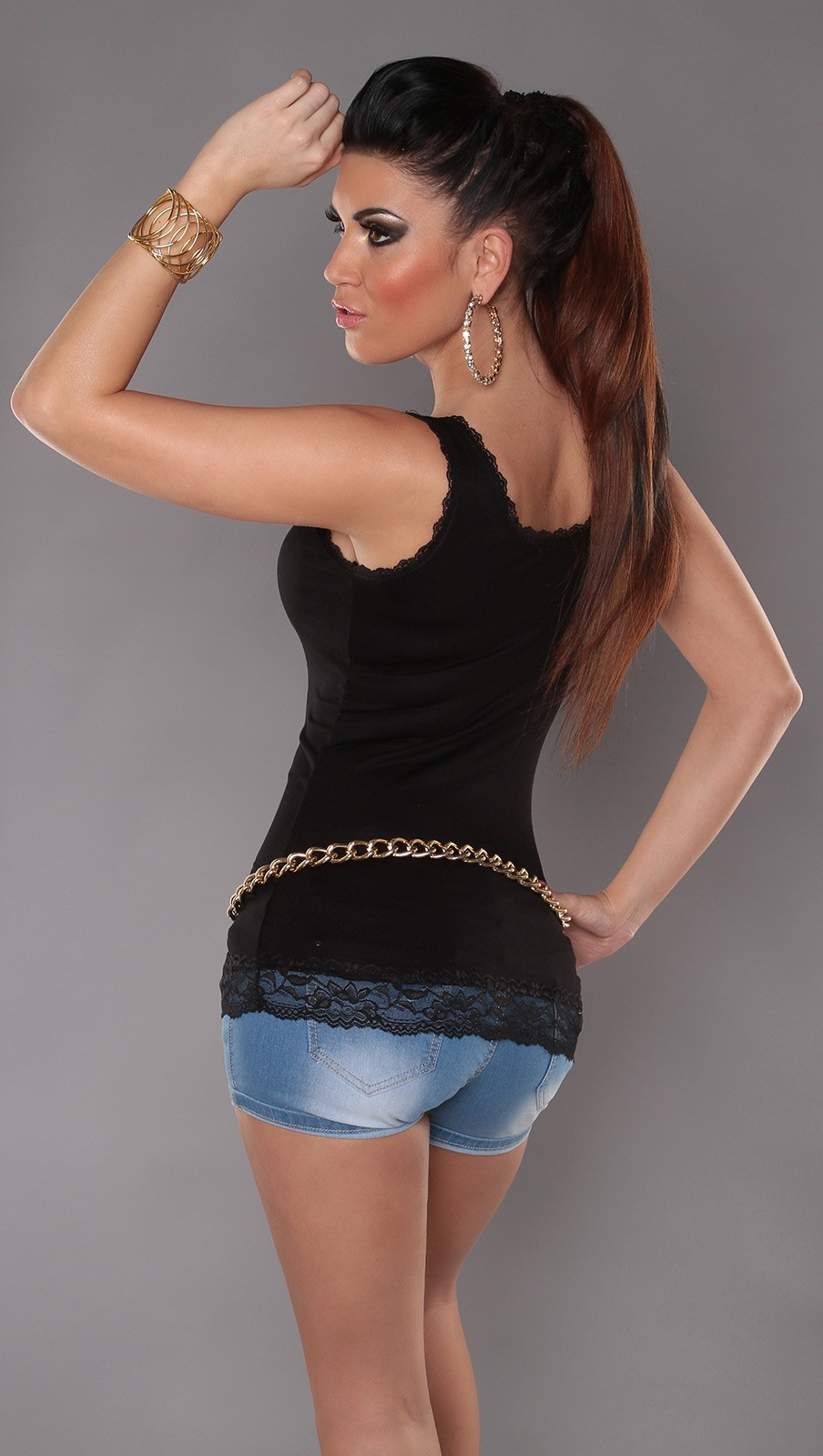 Black Tank Top With Lace