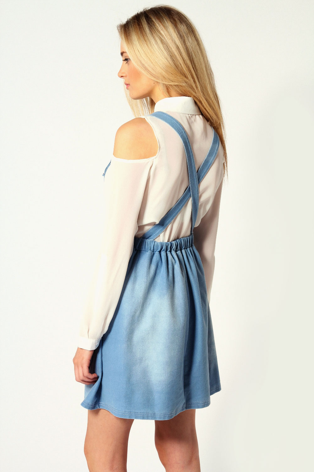 Maria Denim Look Jersey Pinafore Dress
