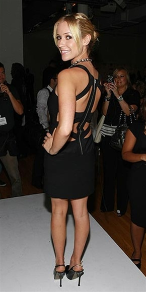 Black Strappy Open Back Bandage Dress