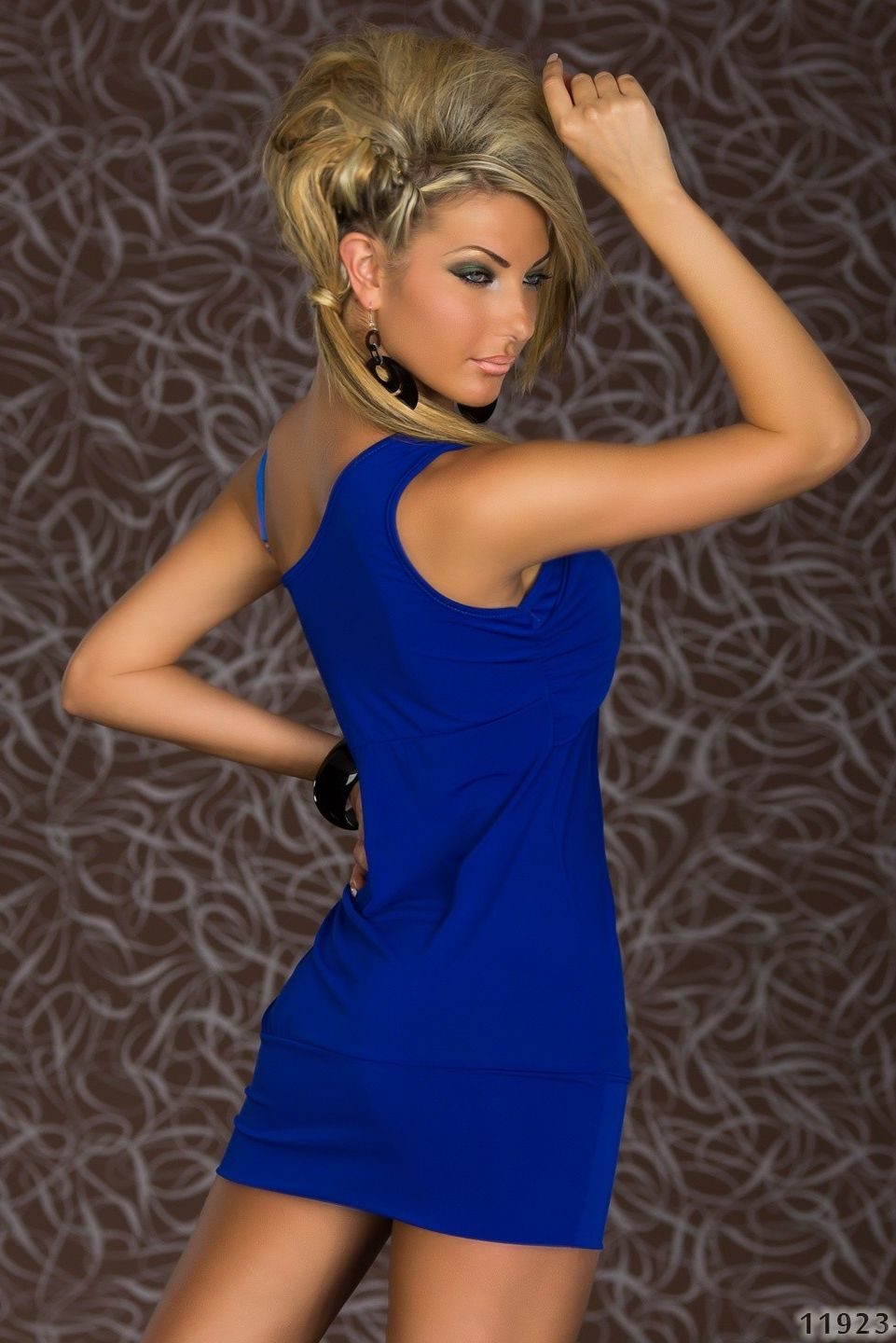 Royal Blue Asymmetrical Dress