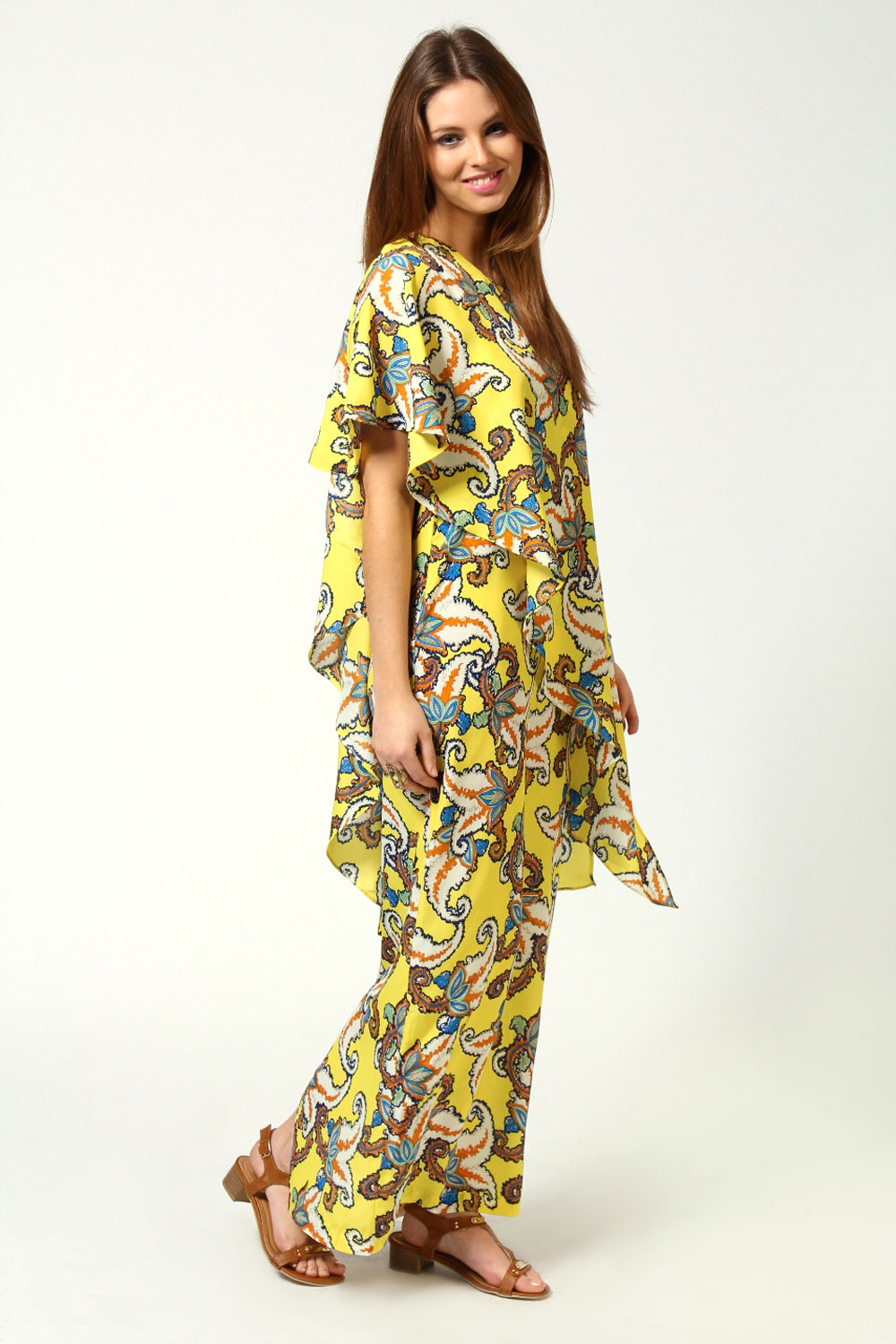 Suri One Shoulder Large Paisley Maxi Dress