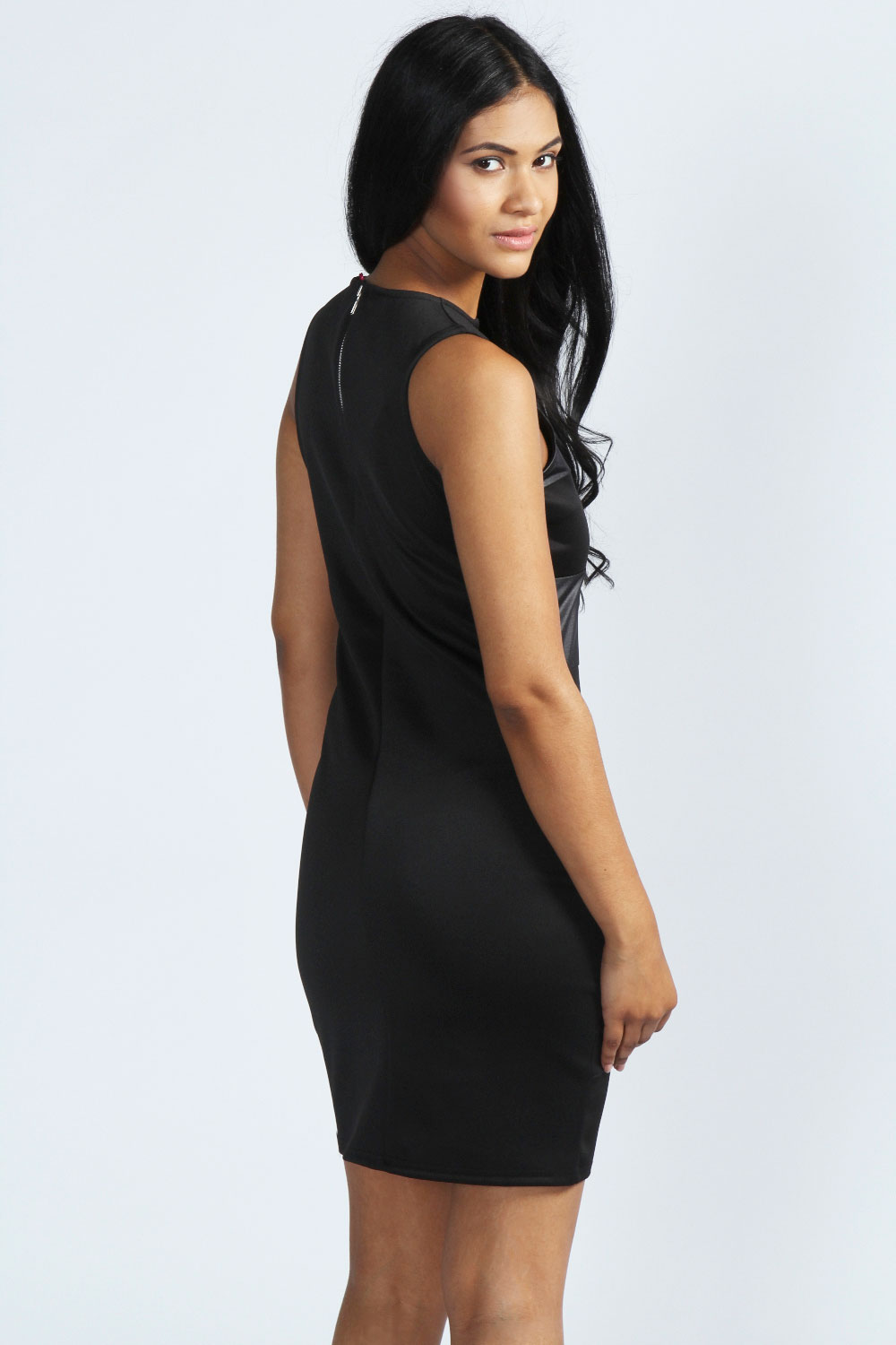Cheryl PU Panelled Bodycon Dress
