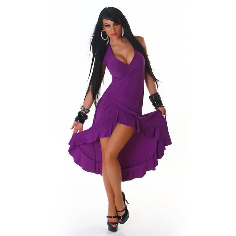 Purple Carmen Summer Dress