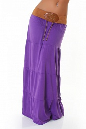 Purple Belted Long Skirt