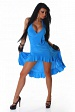 Turquoise Carmen Summer Dress