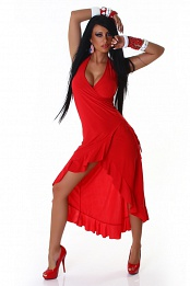 Red Carmen Summer Dress
