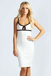 White Lottie Strap Detail Bodycon dress