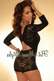 Black Lace Key-Hole Back Romper