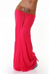 Pink Belted Long Skirt
