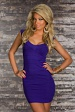 Purple Bodycon Short Bandage Dress With Short Sleeves