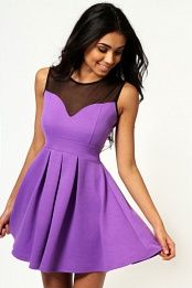 Purple Cheryl Skater Dress