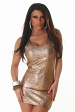 Sexy Bronze Short Slinky Shining Club Dress