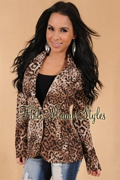 Leopard Light-Weight Blazer Jacket