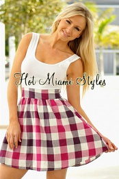 Plaid BabyDoll 2Fer Dress