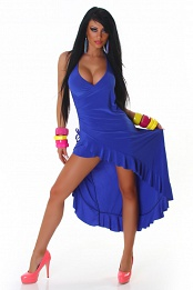 Blue Carmen Summer Dress